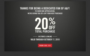 Save Money with Abercrombie and Fitch Coupons