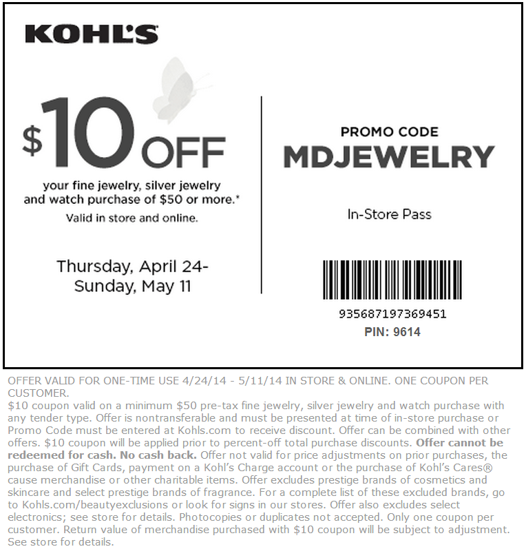 graphic about Kohls Coupons Printable identify 10 off kohls coupon codes printable - Lovable intelligent nashville