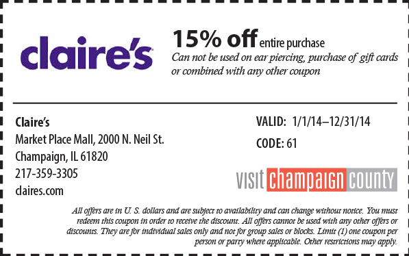 picture regarding Claires Coupon Printable called Claires discount coupons printable 2018 : Practice manufacturing unit on-line coupon