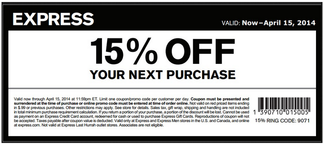 Express copy coupon code