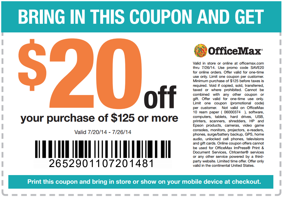 Office depot in store coupons 2018
