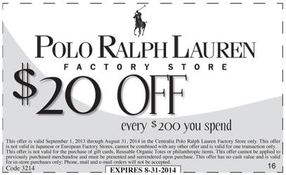 Ralph Lauren Promo Code Feb 2014