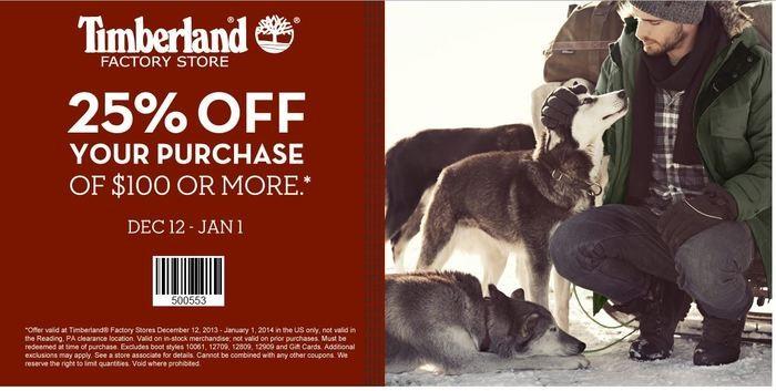 timberland coupon 40 off