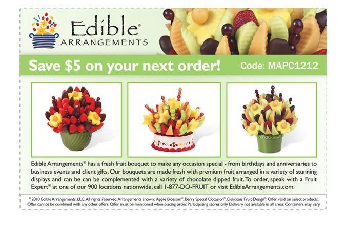 Edible fruit arrangements coupons codes