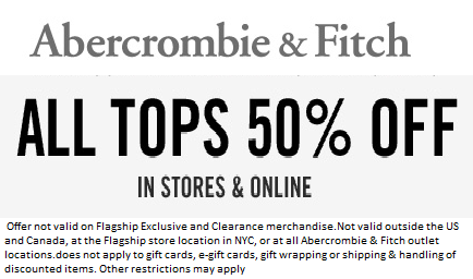 Abercrombie free shipping coupons
