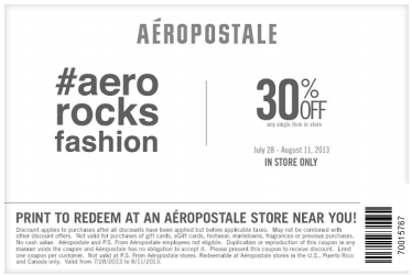Ps aeropostale online coupon code 2018
