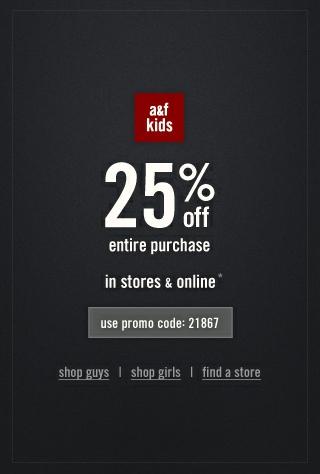 Abercrombie coupon code canada