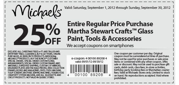 Michaels printable coupons overstock for Michael craft coupon printable