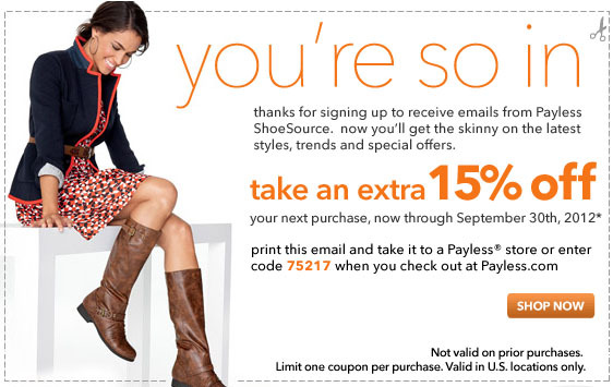 Payless Shoes Printable Coupons